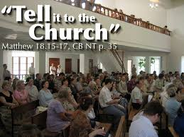 tell to church