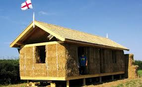 hay bale house