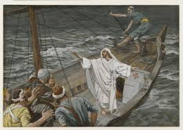 Christ in boat with disciples